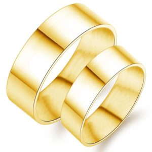 Couple Gold Wedding Bands