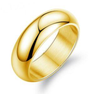 Unisex Gold Plated Wedding Ring