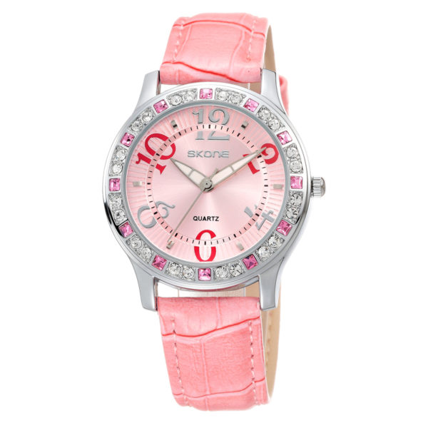 Skone-5003 White Ceramic Women Wrist Watch