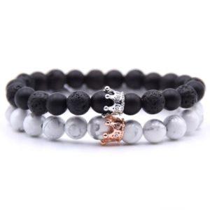Royal Stone Beads Elastic Wrist Bracelets