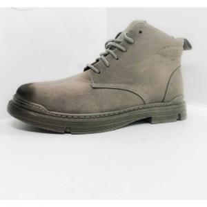 Suede Men Casual Lace Up Rubber Sole Ankle Boots