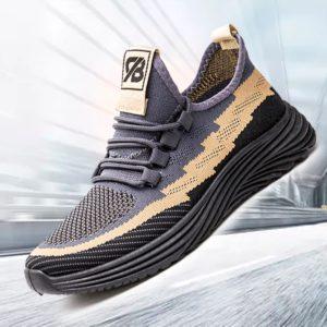 Black/Grey Men's Lightweight Sneakers