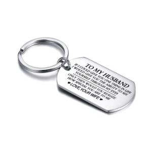 Engraved Custom-Made Inscribed Lovers Personalized Gift Key Holder