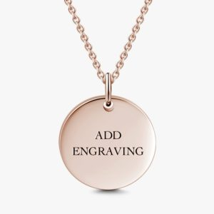 Fashion Jewelry Custom-Made Rose Gold Necklace