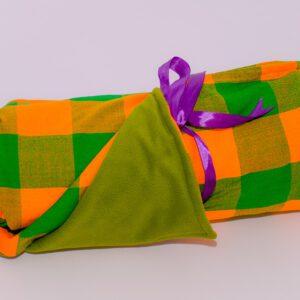 Checked Maasai Fleece Blankets