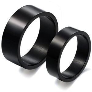 Black Stainless Steel Rings