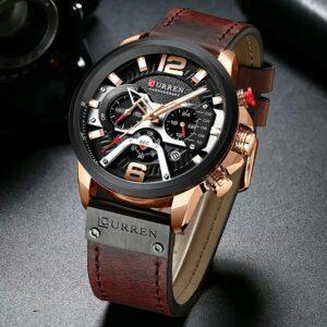 Curren M-8329 Men Wrist Watch-Chronograph