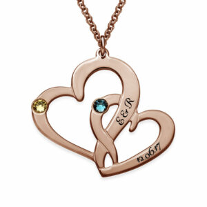 Entwined Love Heart pendant Necklace