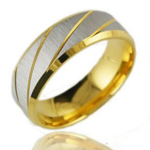 Gold Plated Ring With Silver Details