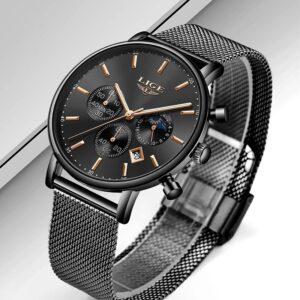 LIGE1853 Quartz  Black Wristwatch