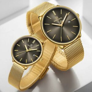 NAVIFORCE  Stainless Steel Couple Watches