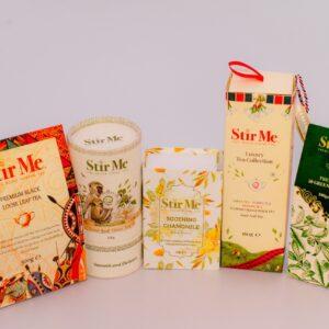 Stir Me luxury Tea, Chamomile Tea, Green Tea, Black Loose Tea