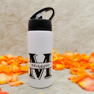 Water Bottle 0.5 Litre Quantity, White in Colour with a Black Lid