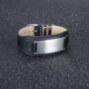 Custom Engravable Leather Bracelet