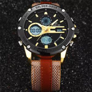GOLDEN HOUR GH-116 Men Dual Display Watch