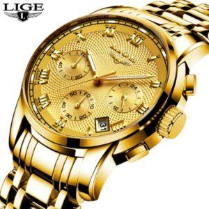 LIGE 9810 Chronograph Men Watch