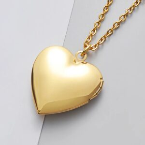 Locket Necklace -Gold Stainless Steel