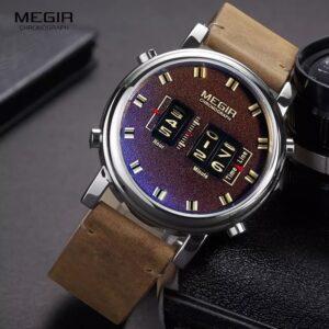 MEGIR 2137 Men Chronograph Watch