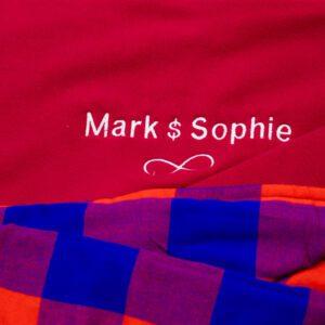 Personalised Fleece Maasai Blanket