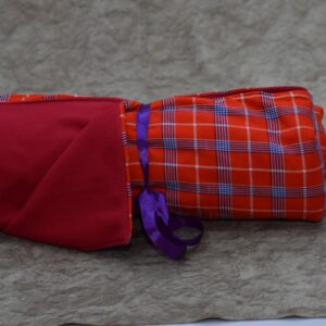 Pink and Blue Cheeked Maasai Cover Up with a Pink Fleece