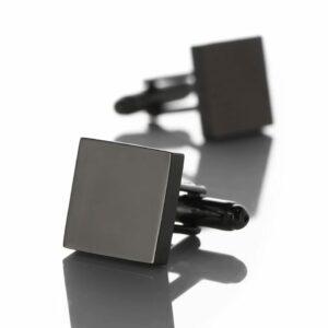 Stainless Steel Custom Engravable Name Initials Cufflinks Men