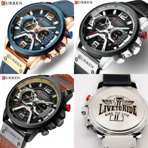 Curren Quartz Wrist Watch - for Men