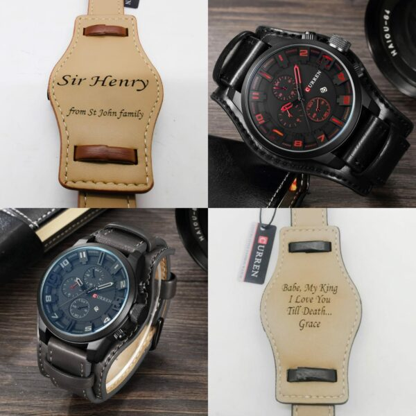 Personalized Curren Leather Straps Watches