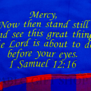 Personalized Fleece Blanket with a Bible Verse